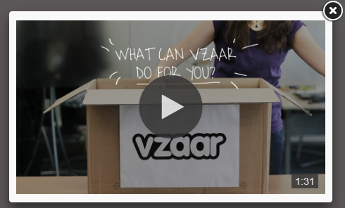 screenshot showing vzaar video in lightbox